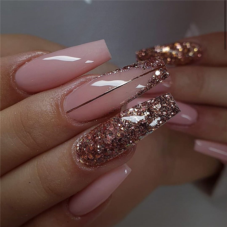 55 Stylish And Coolest Coffin Nail Designs To Start Your Wonderful Year 2020 Page 49 Of 55 Cute Hostess For Modern Women In 2020 Posh Nails Classic Nails Coffin Nails Designs