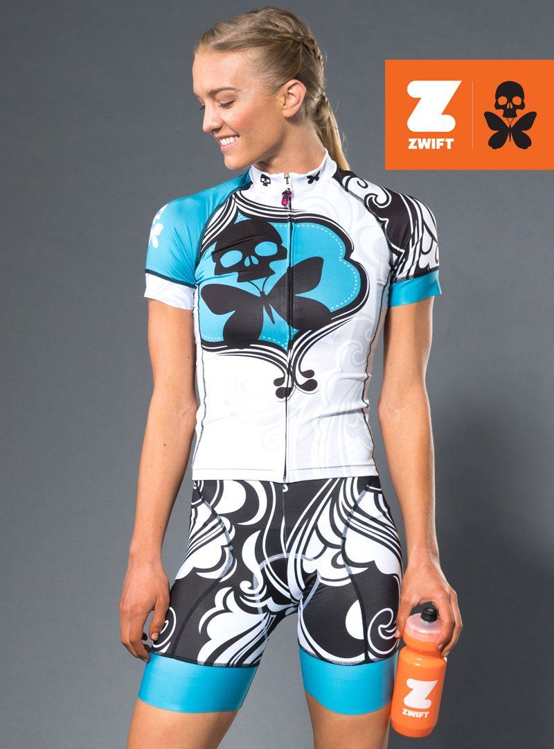 Betty Designs Turquoise Signature Cycle Kit As Seen On Zwift Betty Design Sportswear Women Women S Cycling Jersey