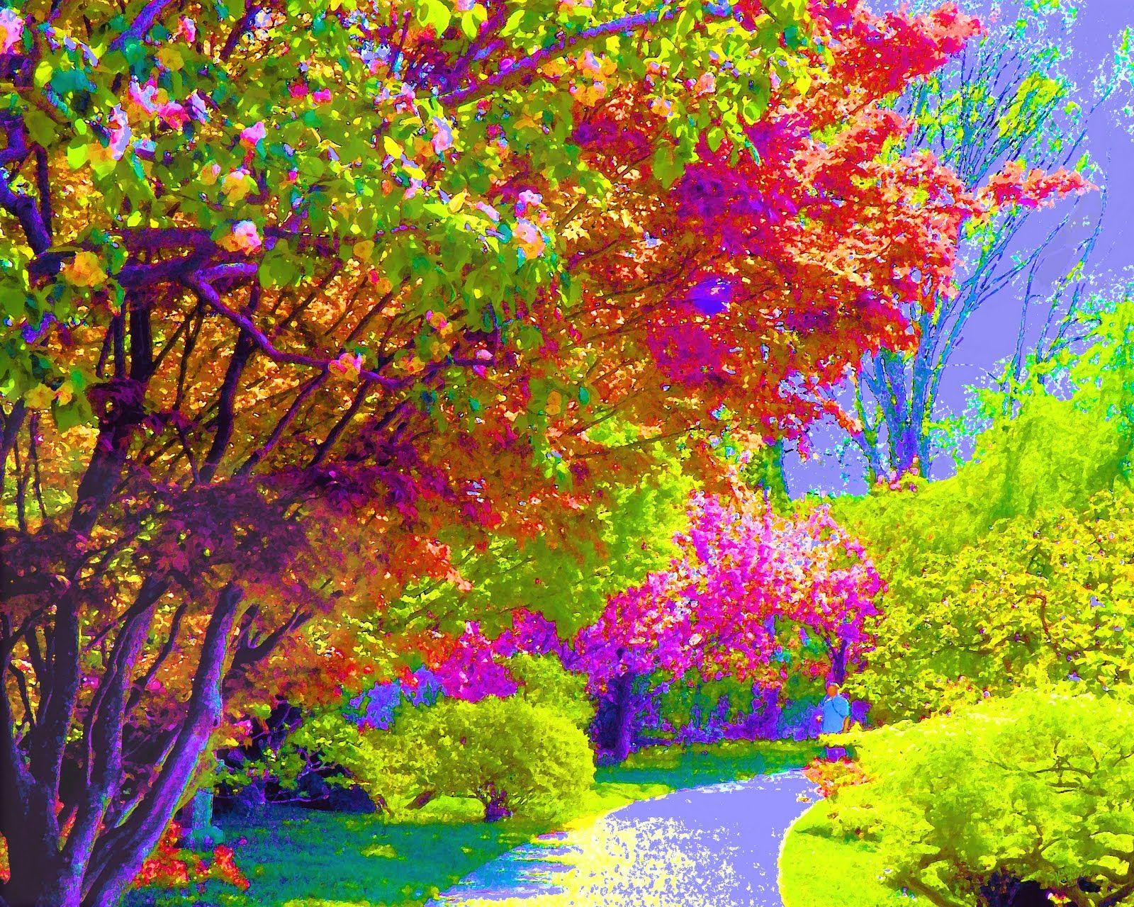 Картинка анимация разноцветные осенние краски