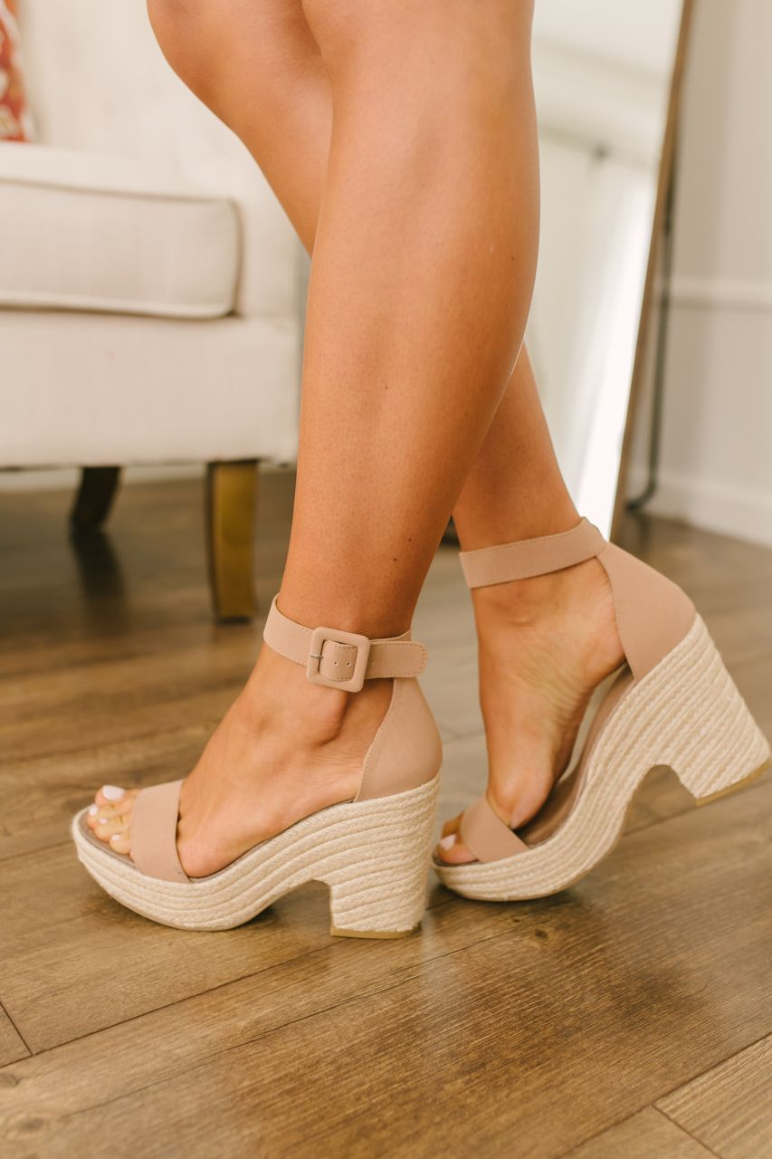 72b442fb48 Chinese Laundry Queen Espadrille Wedges - Camel in 2019 | Shoezies ...