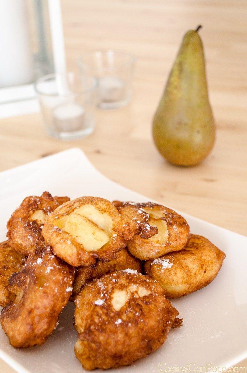 Buñuelos de pera - Sin Gluten - Paso a paso