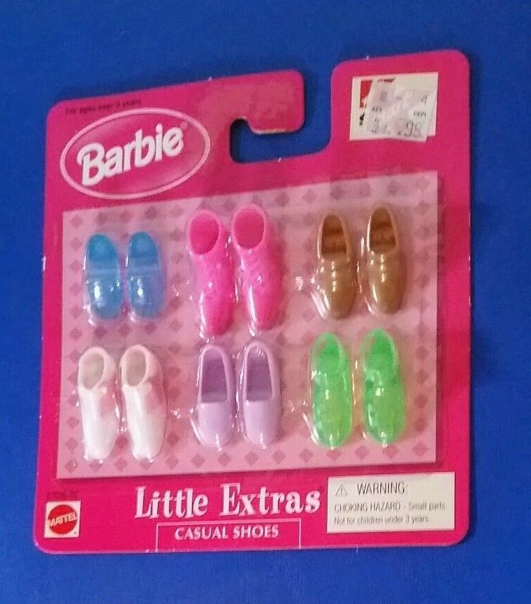 Vintage Barbie Shoes Little Extras Casual Shoes HighTops, Everyday NEW NOS 2000 #MattelBarbie