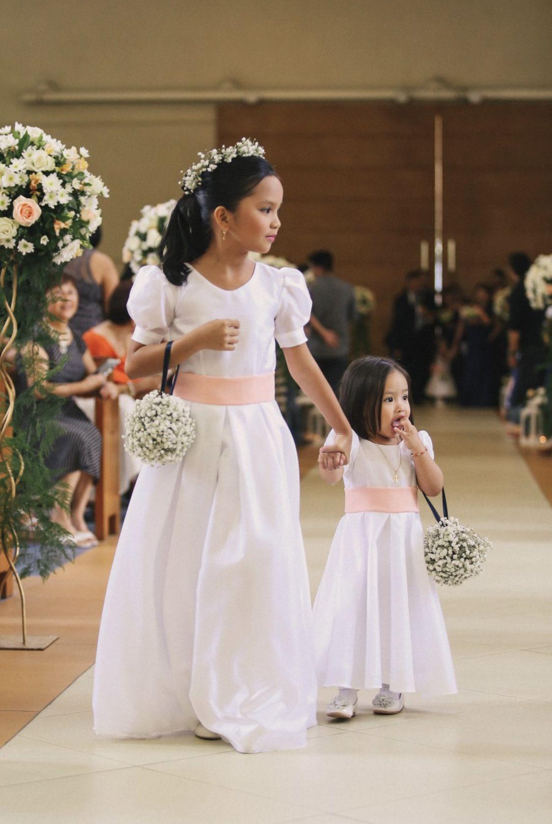 Flower Girls Long White Dress Flower Girl Dresses Flower Girl [ 1677 x 1125 Pixel ]