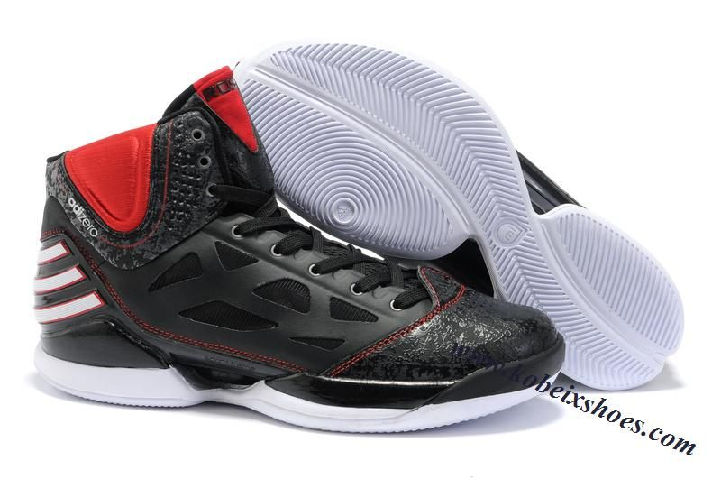 Adidas AdiZero Rose Dominate Derrick Rose Shoes Black Red White