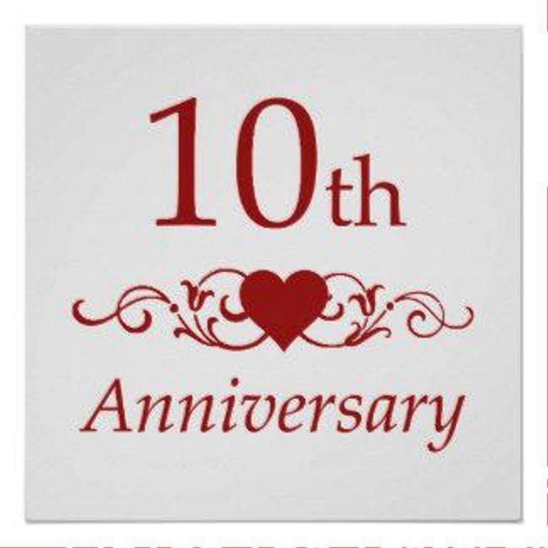 Happy Tenth Anniversary Pic Ta308 40th Wedding Anniversary Wedding Anniversary Wishes Happy 40th Anniversary