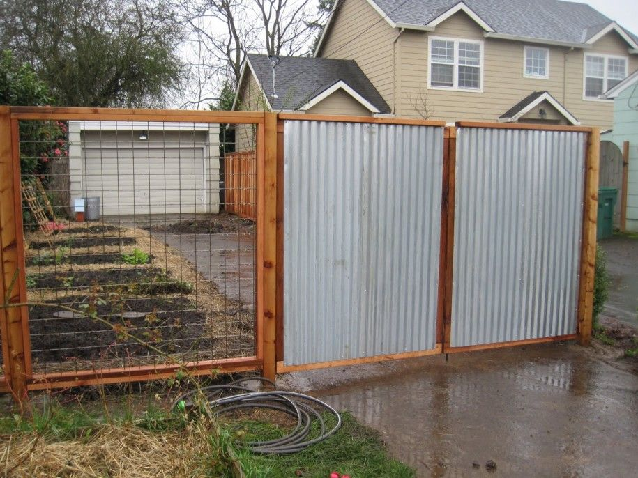 Decoration, Corrugated Metal Fence Decoration Ideas: How To Design  Corrugated Metal Fence