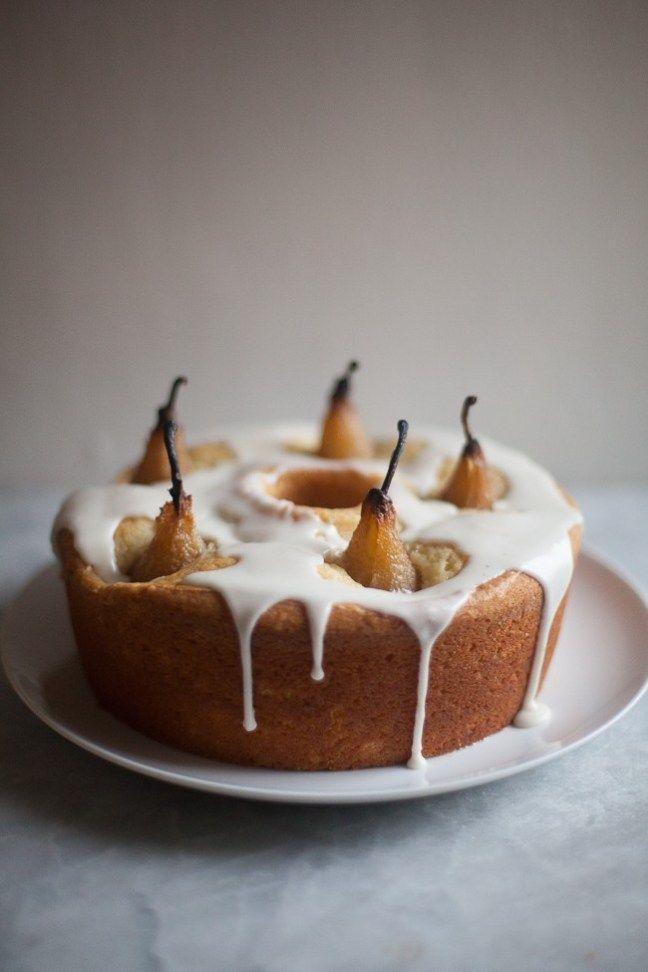 Pear Cardamom Cake Recipe - French Pear Cake Recipe