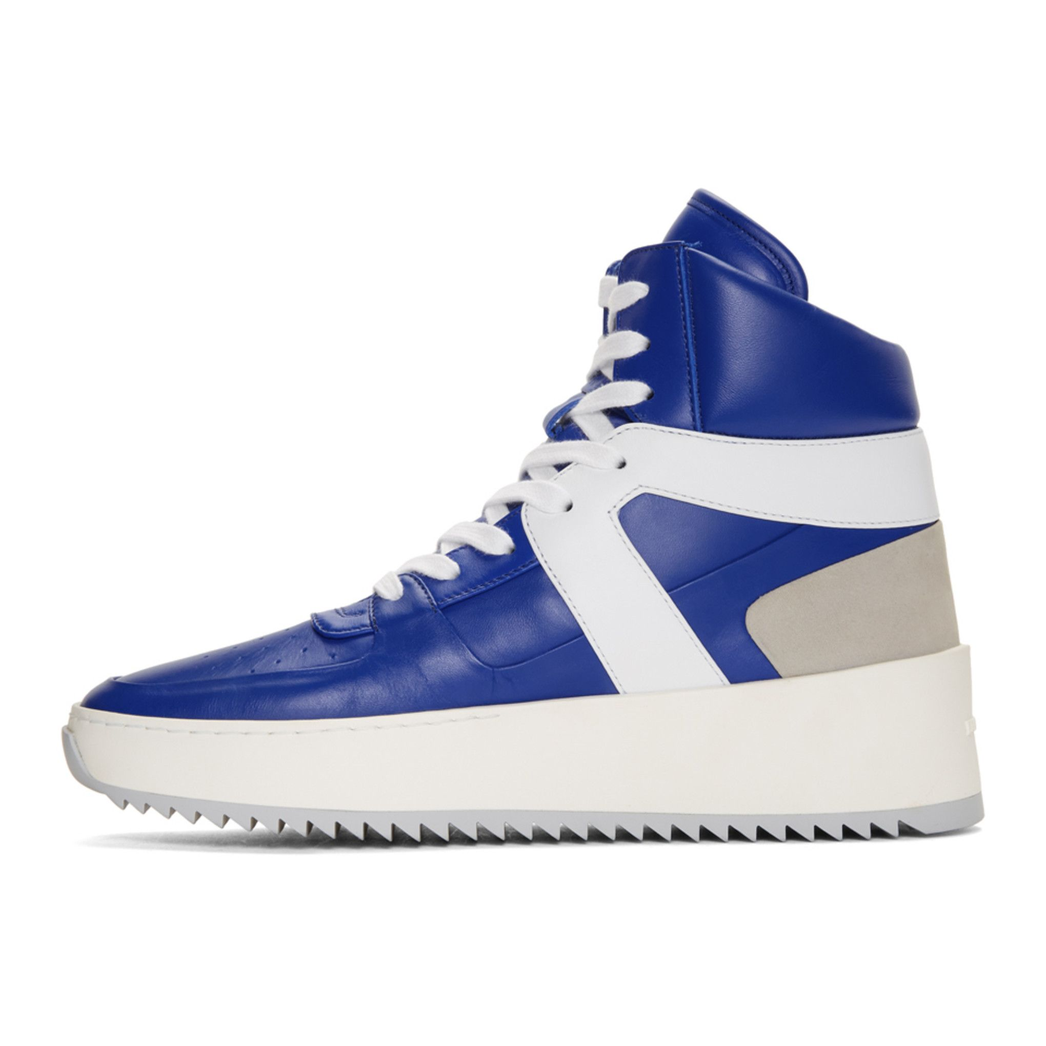 SSENSE Exclusive Blue and White Basketball High-Top Sneakers Fear of God oxPFa