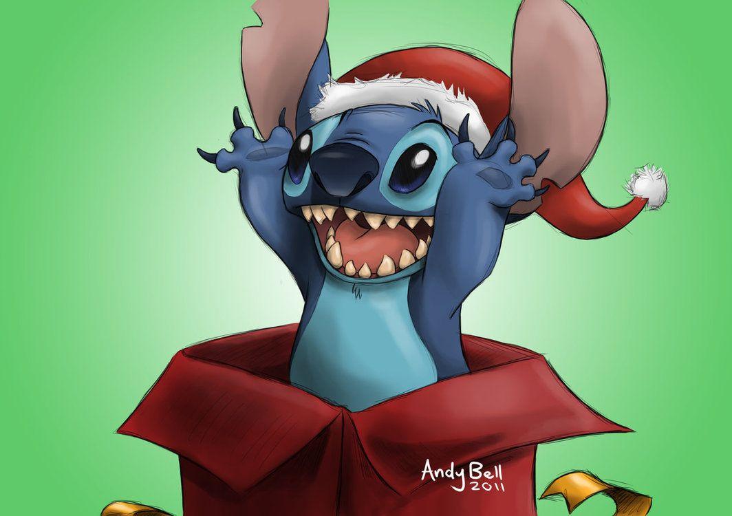 Stitch is the cutest present EVER! My Santa Stitch came