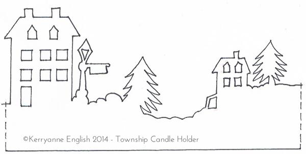 schablone f r die winterlandschaft im marmeladenglas. Black Bedroom Furniture Sets. Home Design Ideas