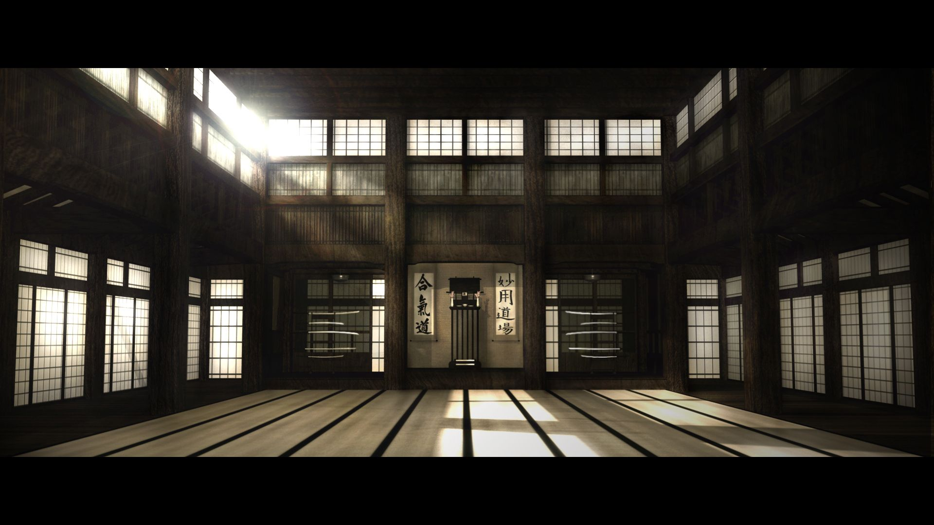 Download Dojo From the Matrix Wallpaper 伝統的な日本家屋, 写真