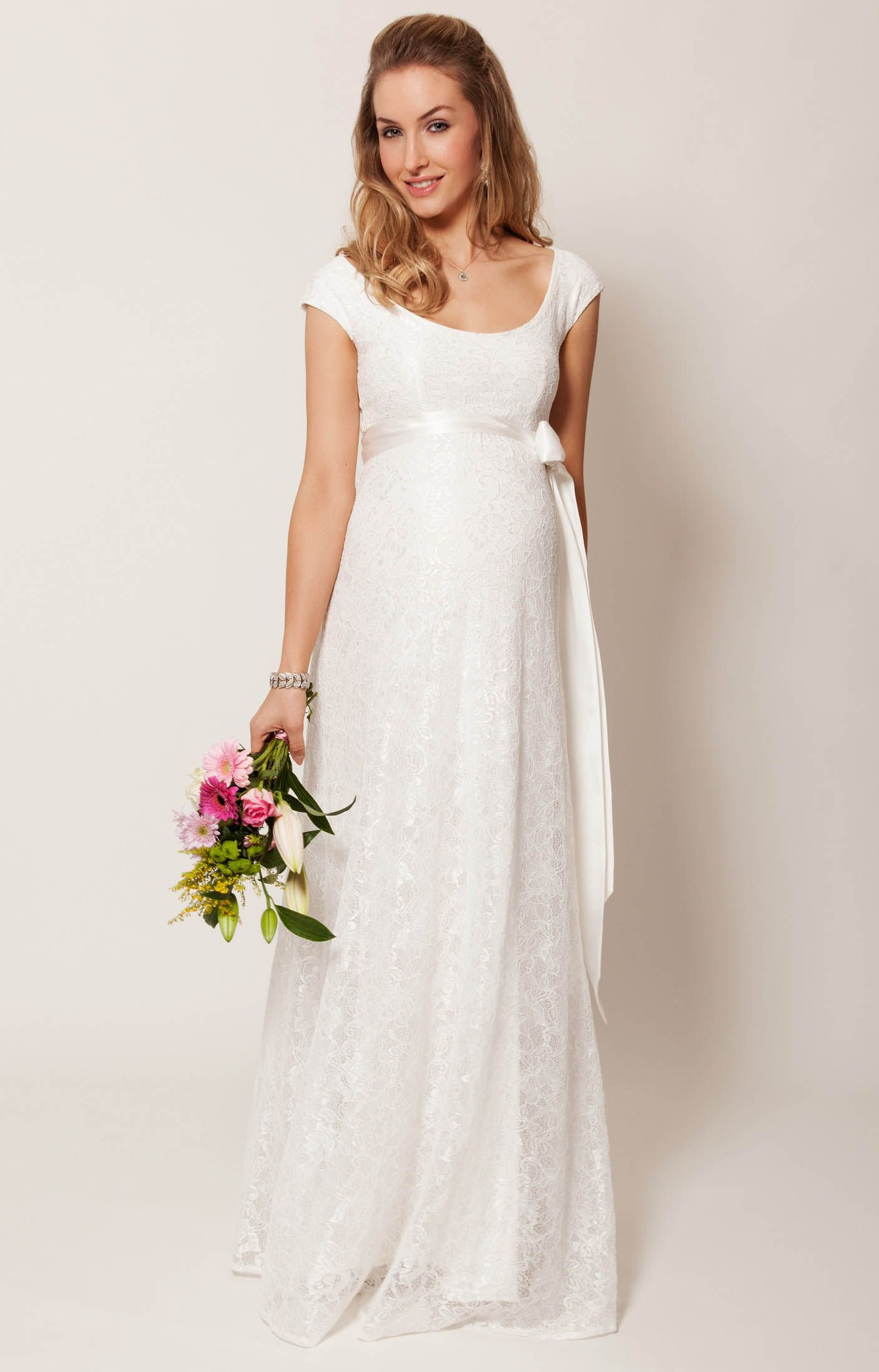 Eliza gown long tiffany rose ivory and gowns