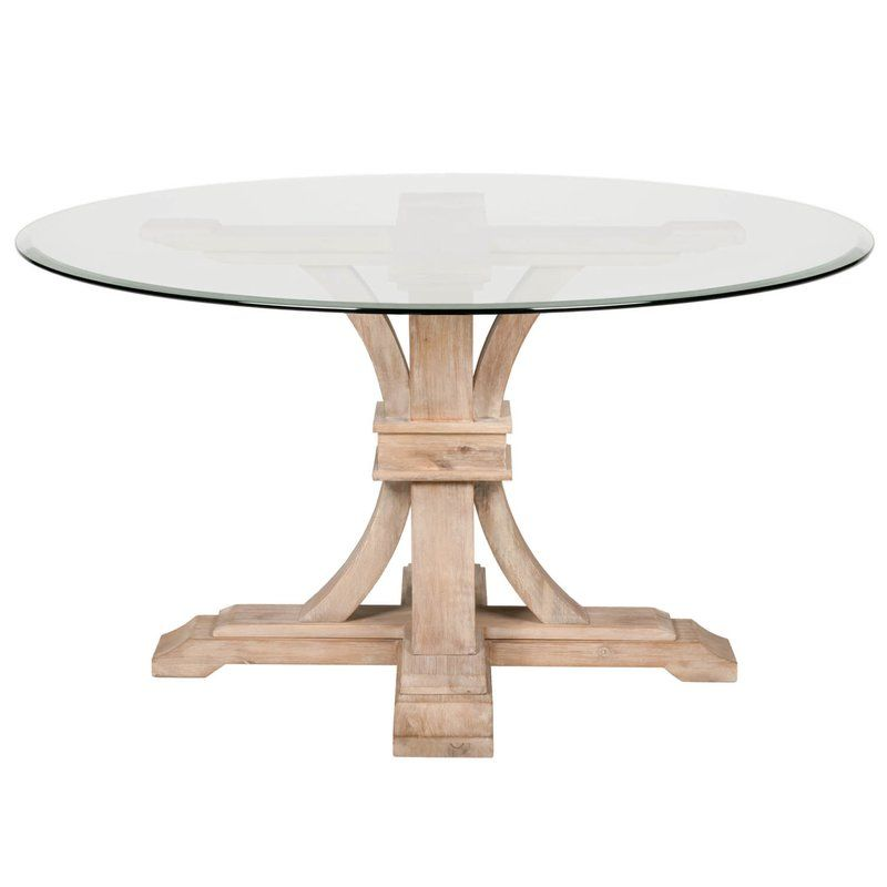 Parfondeval 54 Round Glass Dining Table With Images Glass
