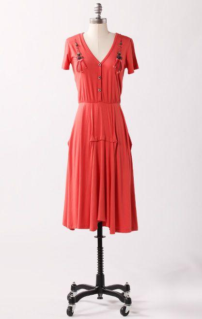 fe5a2532684e18 Bonny Doon Dress-Burnt Sienna 1950 s