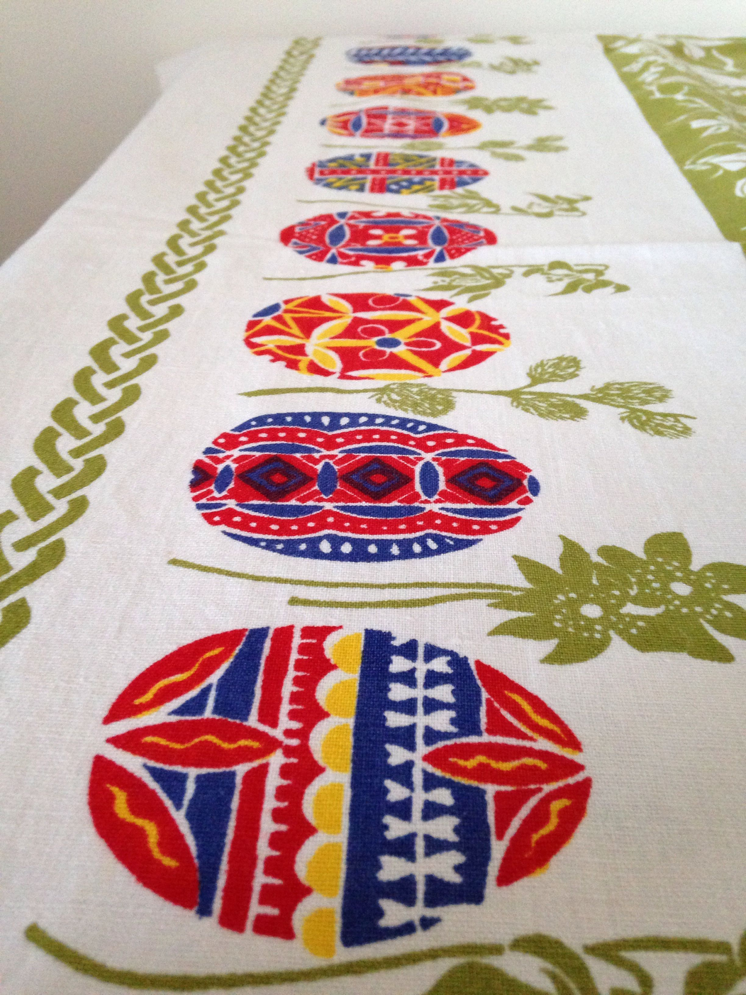Textile art tablecloth