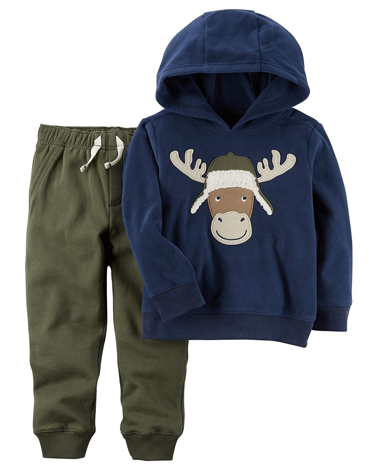 Carters Boys 3M-4T 2 Piece Long Sleeve Top and Pants Set