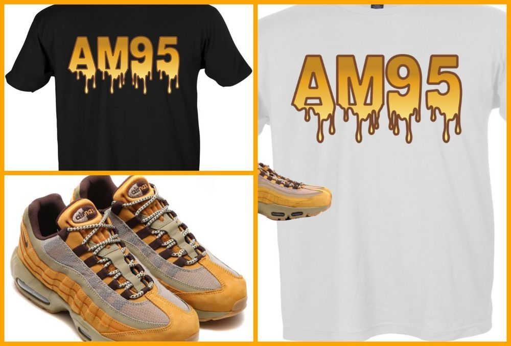 2b046f4c04ce EXCLUSIVE TEE SHIRT TO MATCH NIKE AIR MAX 95 WHEAT s!