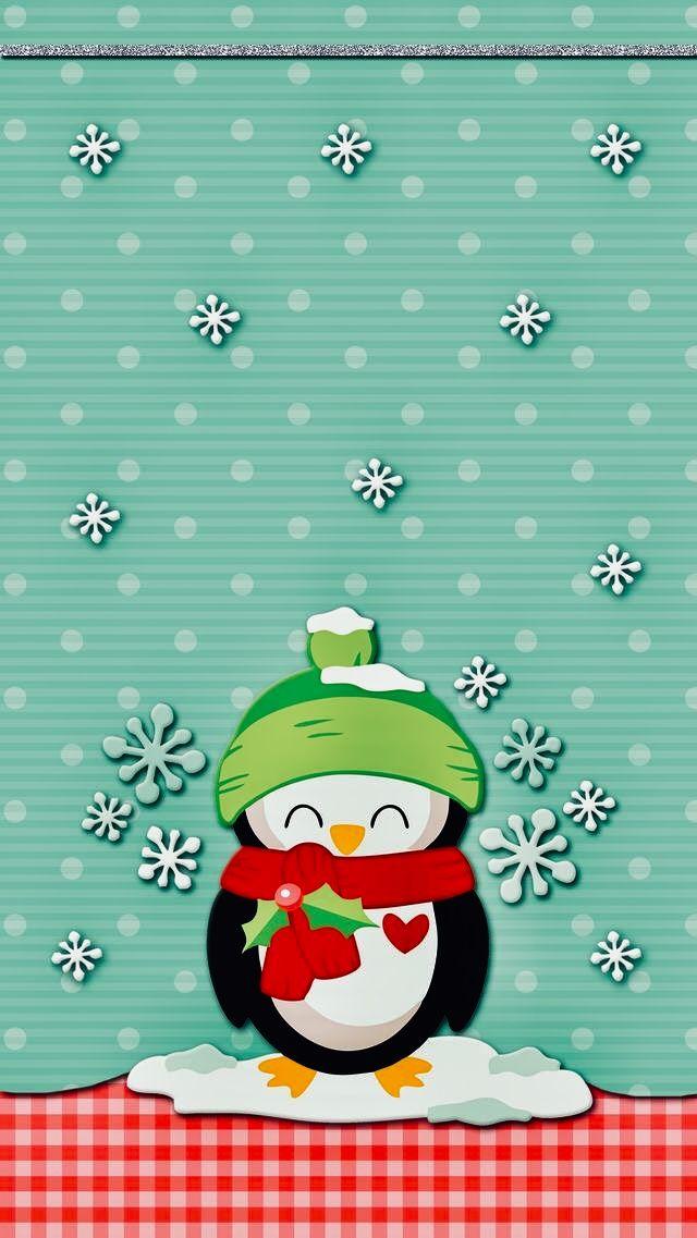 Wallpaper De Noel Pingouin De Noel Fond D Ecran De Noel Pour Mobile Iphone Et Android Holiday Wallpaper Wallpaper Iphone Cute Christmas Wallpaper