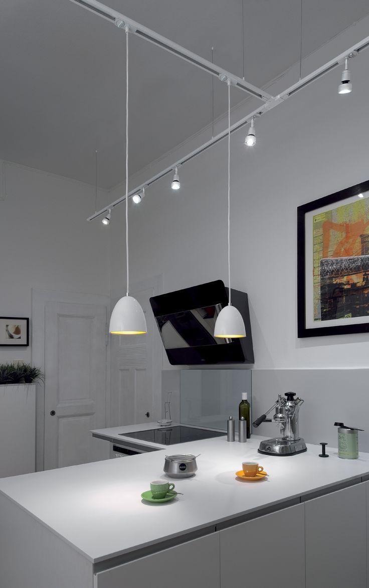 Single Circuit Track System Track Lighting Kitchen Modern