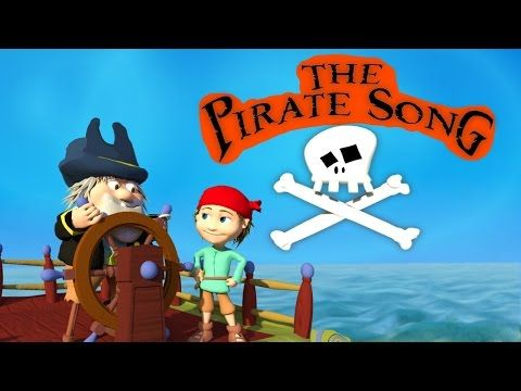 60fc2d74ce7 THE PIRATE SONG (When I was one) 3D Animation for children With Lyrics - HD  Kids…