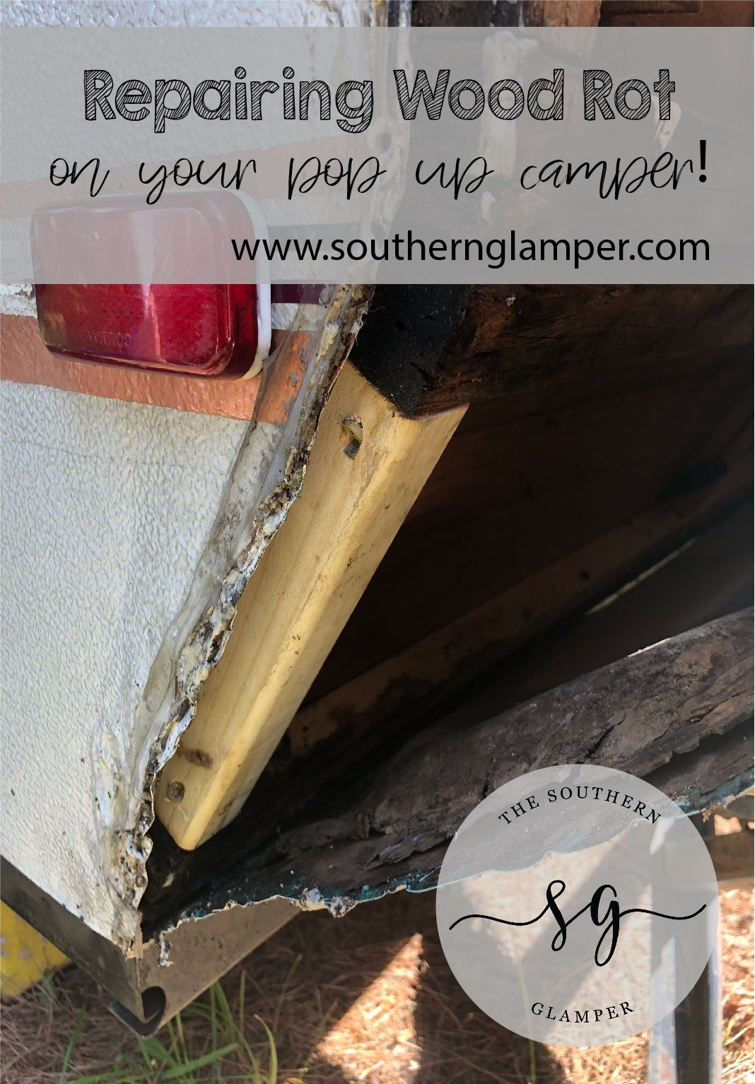 How To Repair Wood Rot And The Side Seams Of A Pop Up Camper Popupcamper Woodrot Diy Rv Camper Pop Up Camper Camper Repair Popup Camper Remodel
