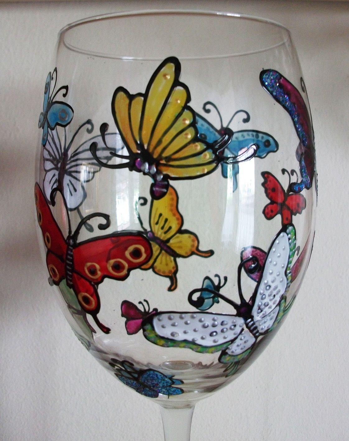 How To Paint Wine Glasses | hand painted wine glasses how to image search results