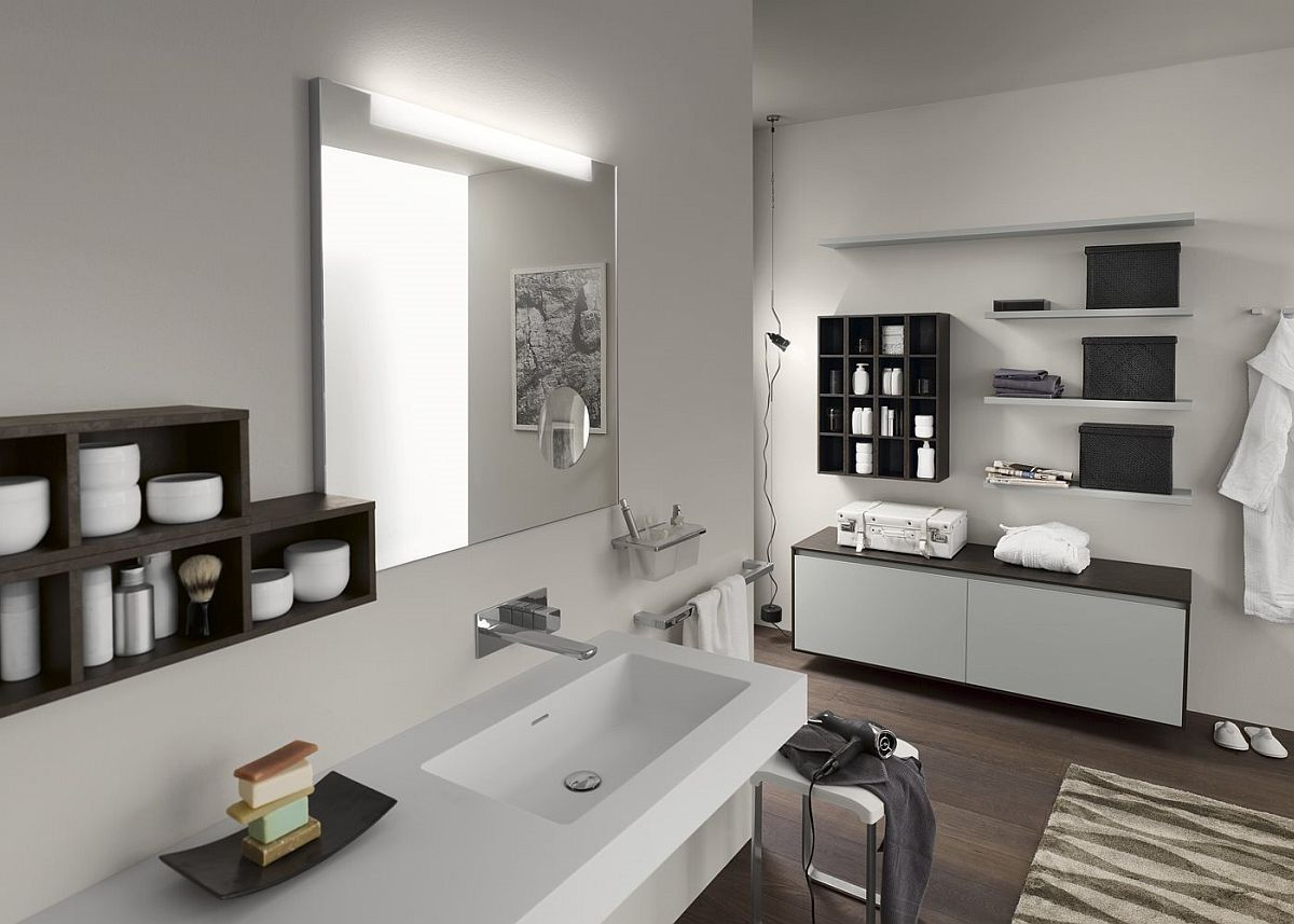 view gallery bathroom modular system progetto. Craft A Living Bathroom With Modern Vanity And Cabinets From Inda View Gallery Modular System Progetto