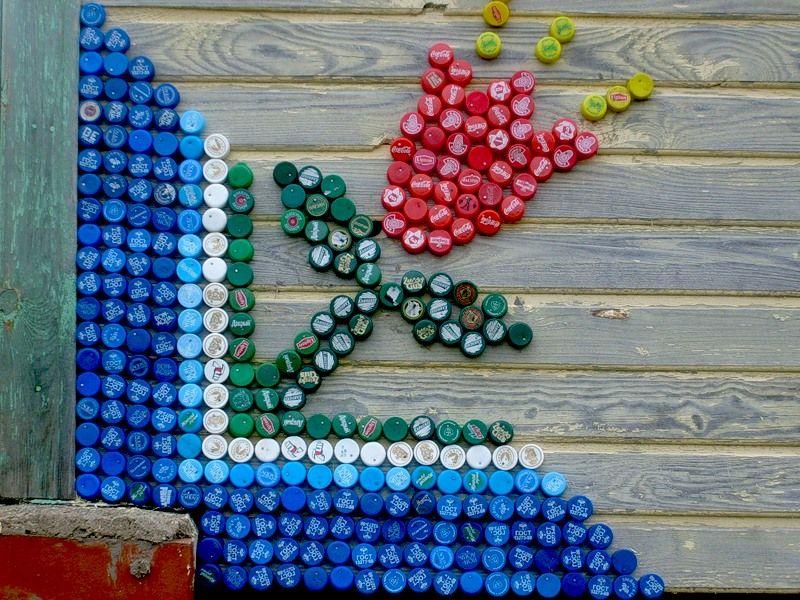 Пластиковые пробки от бутылок поделки фото