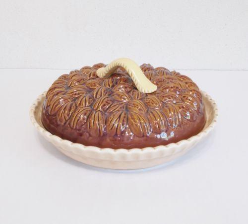 Ceramic-Pecan-Pie-Covered-9-Pie-Plate-Holder- & Ceramic-Pecan-Pie-Covered-9-Pie-Plate-Holder-Unbranded | Trinkets ...