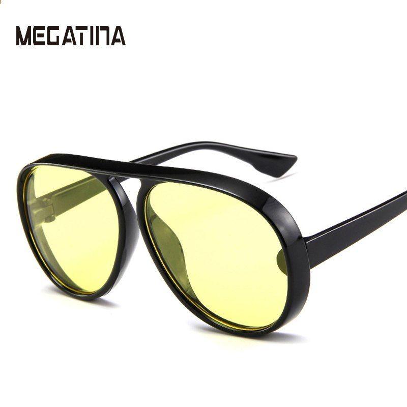 134e9b8e8e99fb Megatina Heren Zonnebrillen Dames Square Merk designer Polaroid Retro  Zonnebril UV400 Spiegel Eyewear Heren Gepolariseerde High