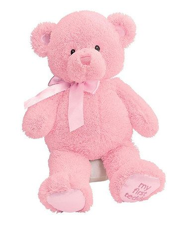 Another great find on #zulily! Sweet Baby Pink My First Teddy Beanie Baby…
