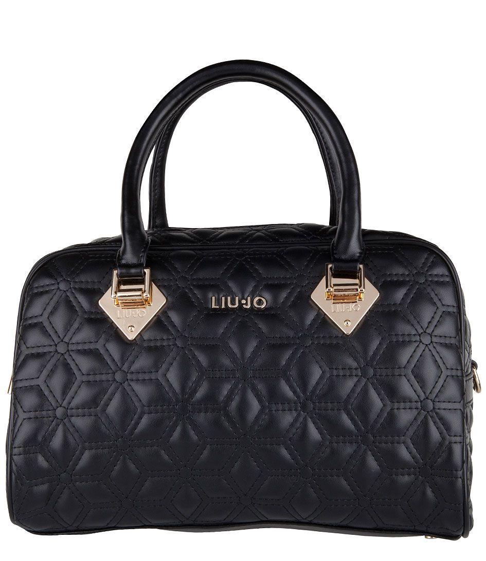 7659cc4ae37 Een chique tas met doorgestikt ruitpatroon; dat is de Jasmin Small Boston  Bag van Liu Jo. De tas is afgewerkt met goudkleurige metalen en een  hoofdvak met ...