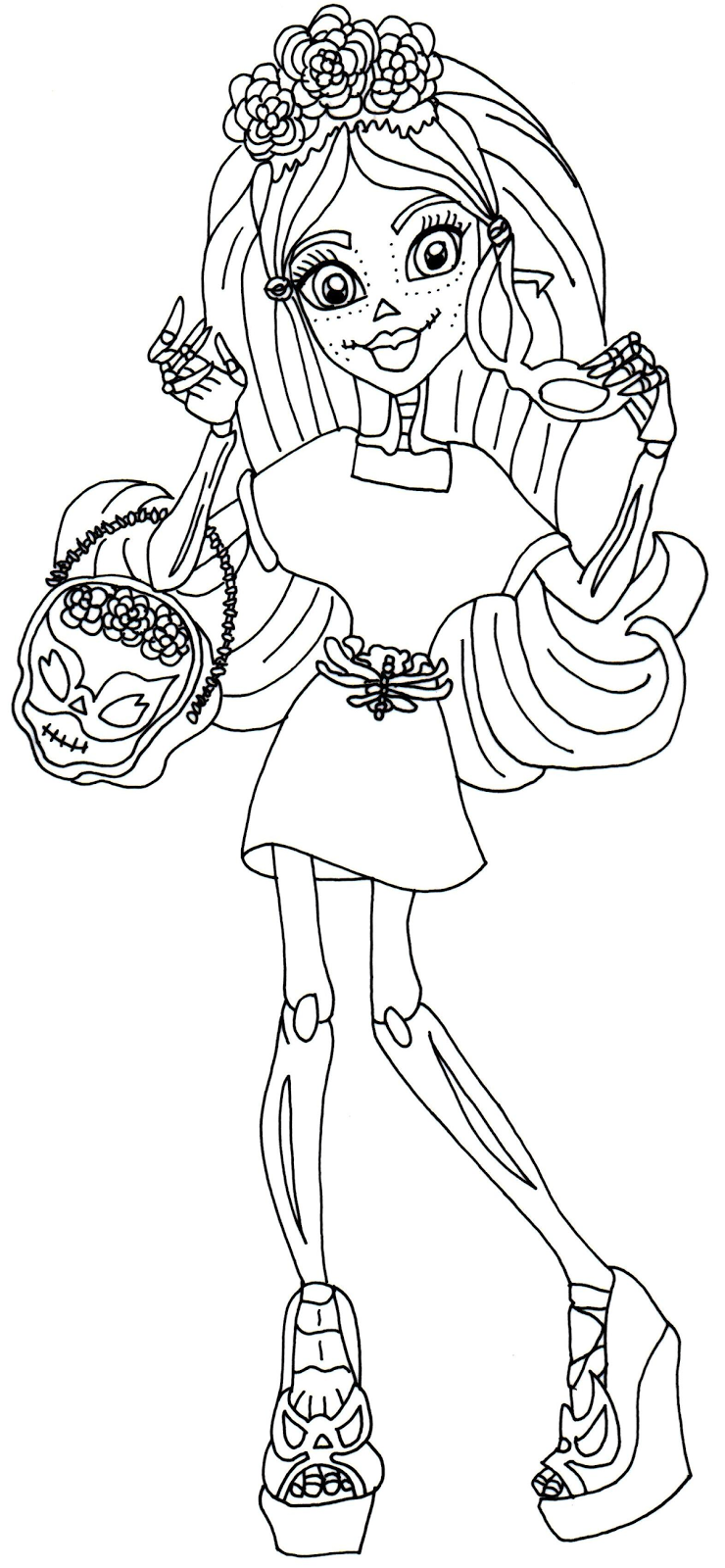 picture about Monster High Printable Coloring Pages identified as monster substantial free of charge printables Skelita Calaveras I take pleasure in