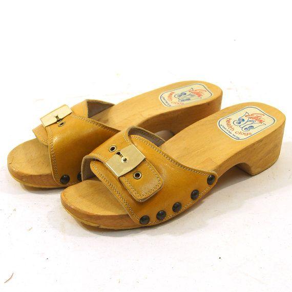 Wooden Platform Sandals / Eterna Health Clogs / by