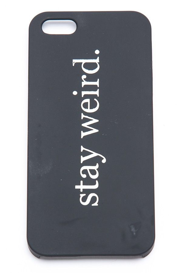 Brandy ♥ Melville   Stay Weird iPhone 5 Case - Just In