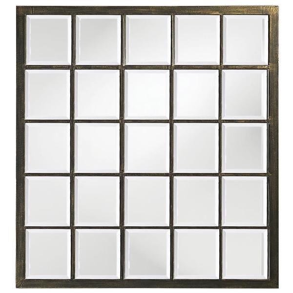 Allan Andrews Superior Square Frame Mirror (Black/Brown - Black ...