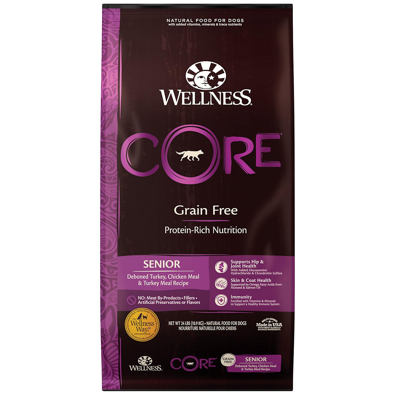Wellness Core Senior Natural Grain Free Dry Dog Food 24 Lbs Dry Dog Food Dog Food Recipes Wellness Core