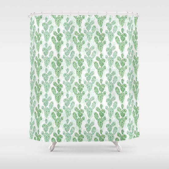 Watercolor Cactus Shower Curtain Succulent Accent To Your
