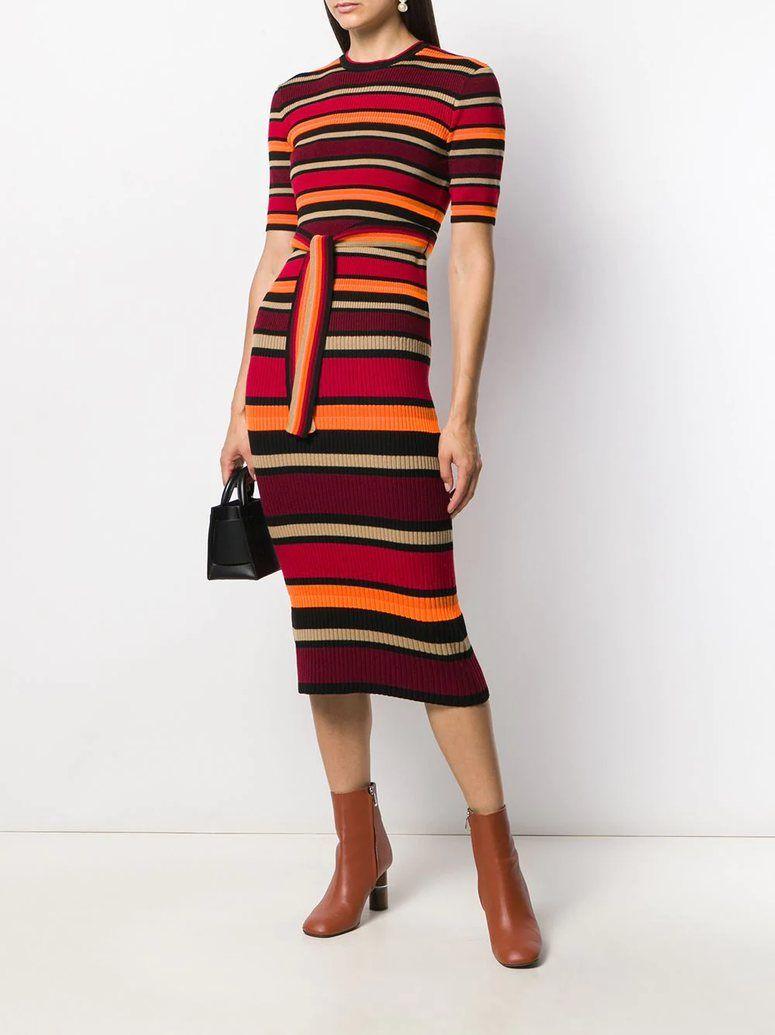 Victoria Beckham Short Sleeve Striped Sweater Dress Red The Urge Us Striped Sweater Dress Stripe Sweater Sweater Dress [ 1035 x 775 Pixel ]