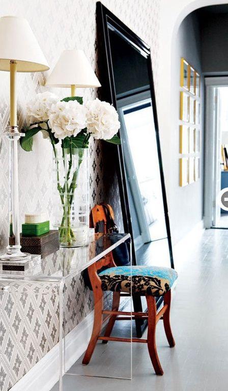 Great front corridor. | Magpie Nest | Pinterest | Floor mirror ...