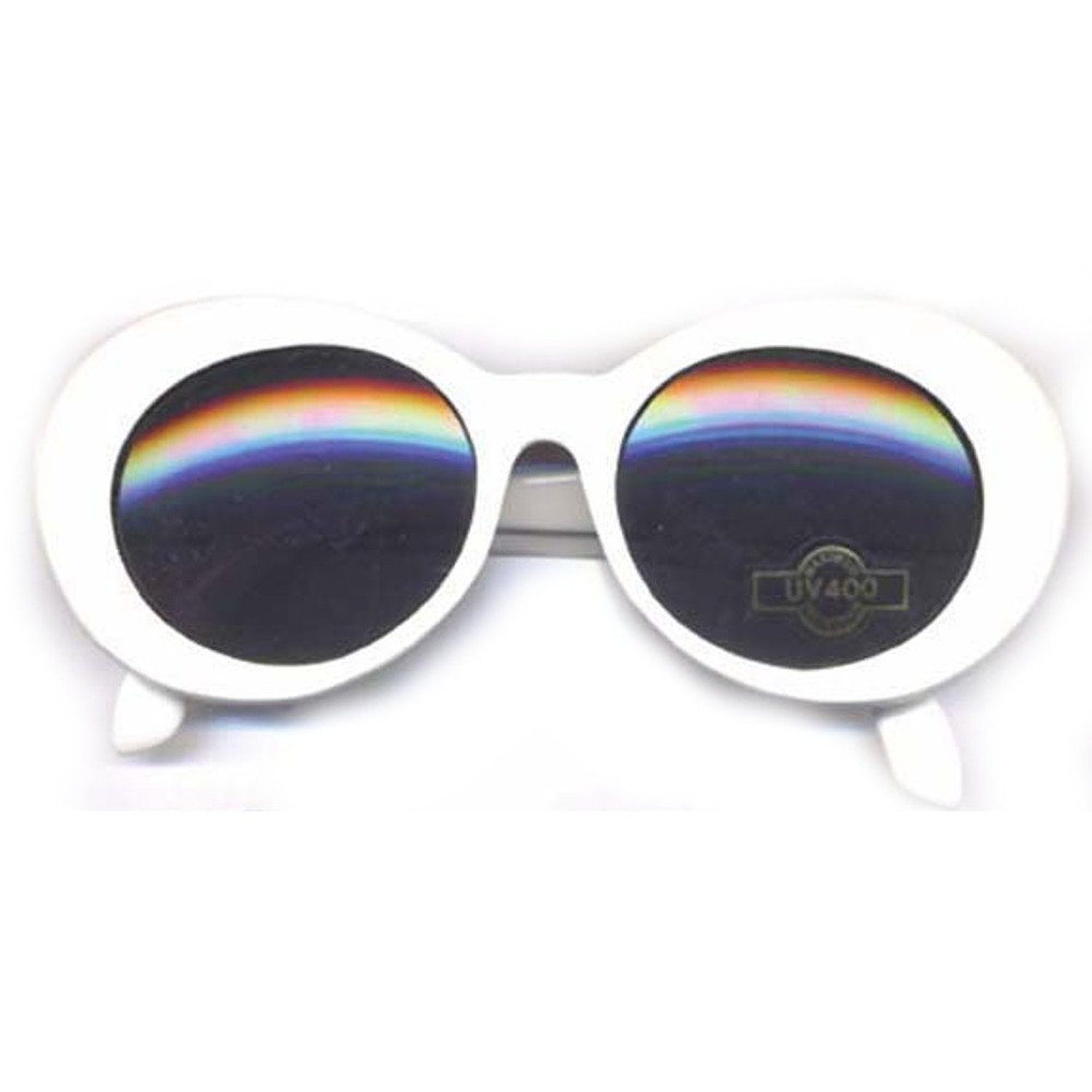 Kurt Cobain White Round Sunglasses: Amazon.co.uk: Clothing
