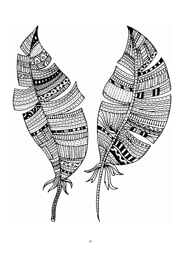 Pin de Barbara en coloring feather | Pinterest