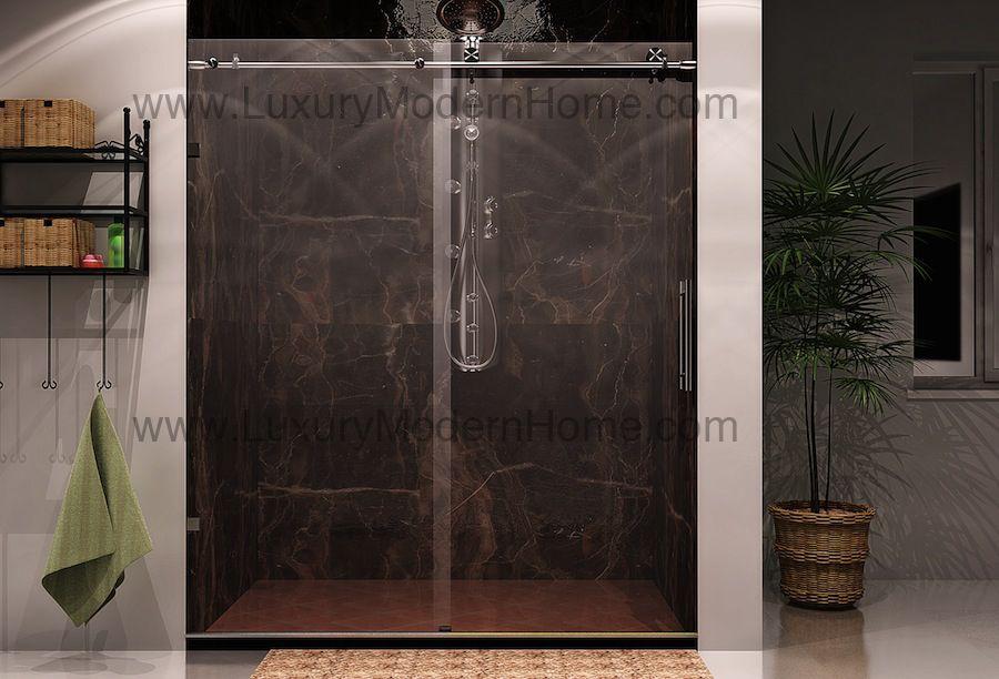 Cologne Sliding Glass Shower Door Hardware Only Modern