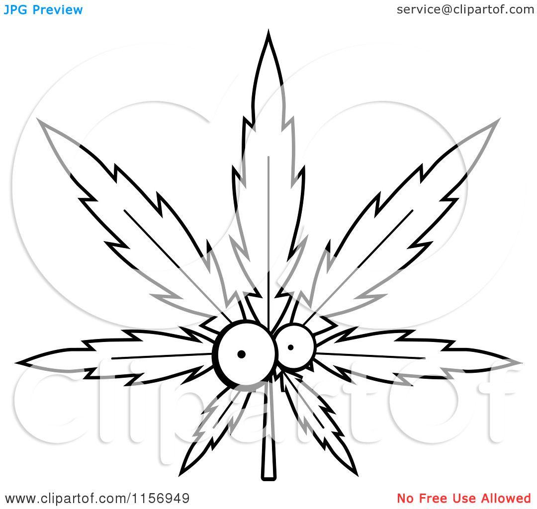 marijuanna leaf coloring sheets for kids | Pot Leaf Character ...