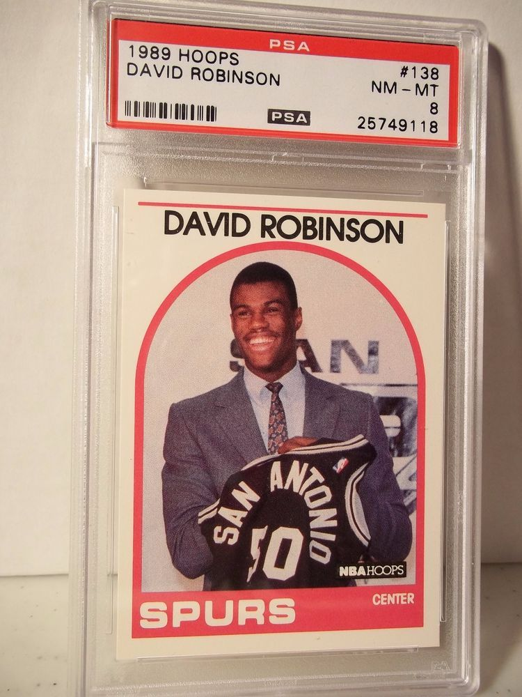 1989 Hoops David Robinson Rookie Psa Nm Mt 8 Basketball Card