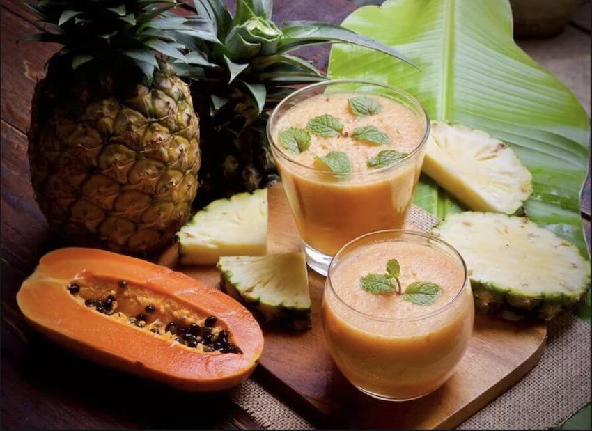 frullato dimagrante con farina davena e papaia