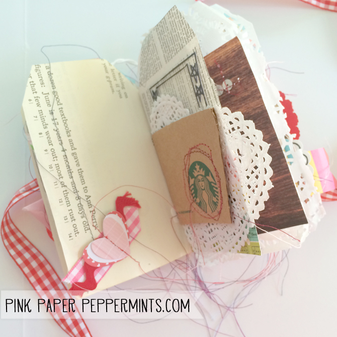 free printable mini book template for valentine s day pink paper