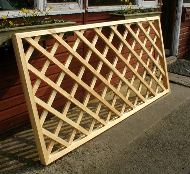 Trellis fence panels fencing panels trellis garden for Lattice screen fence