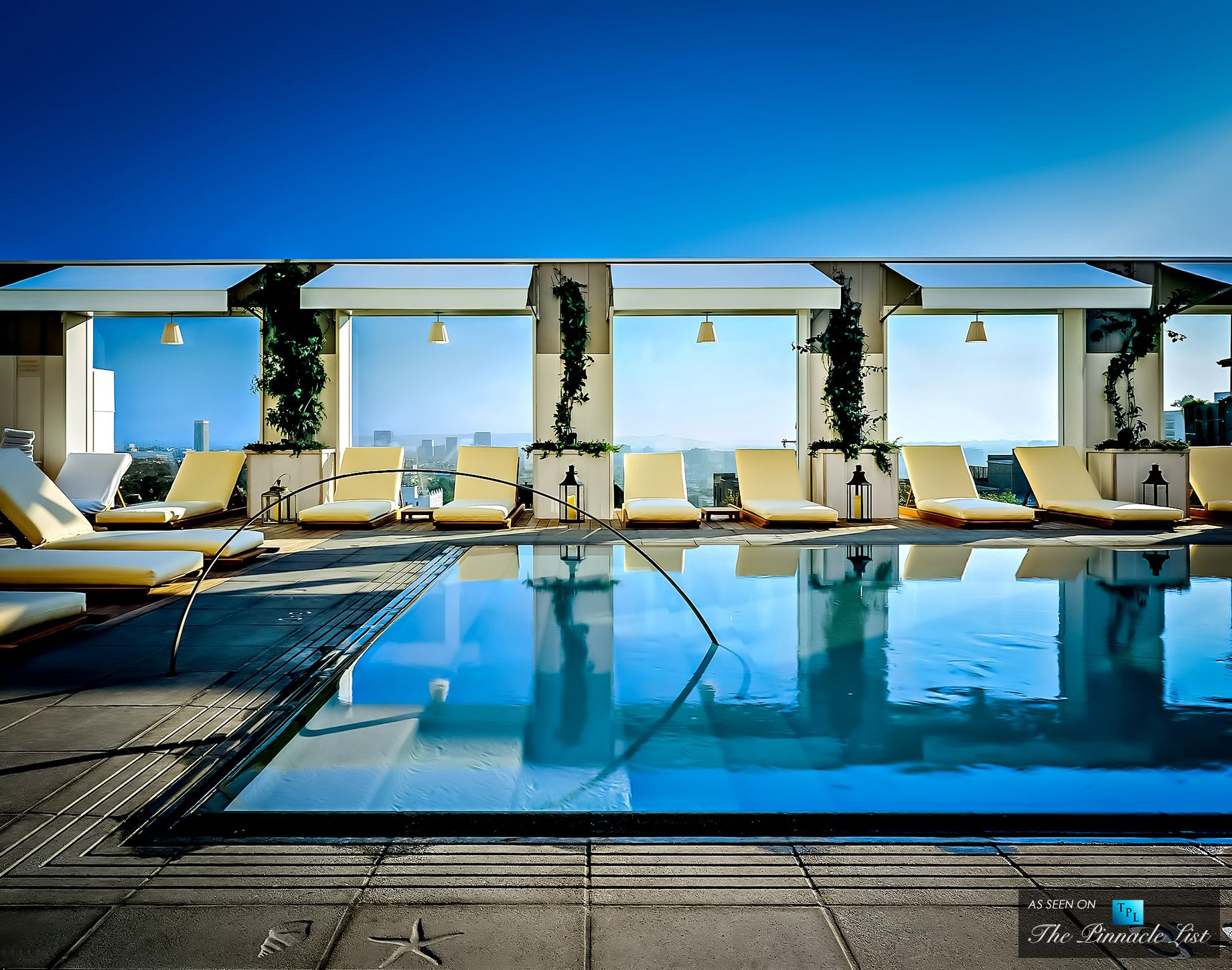 Mondrian Los Angeles Hotel Skybar Rooftop Pool | Cool pools ...