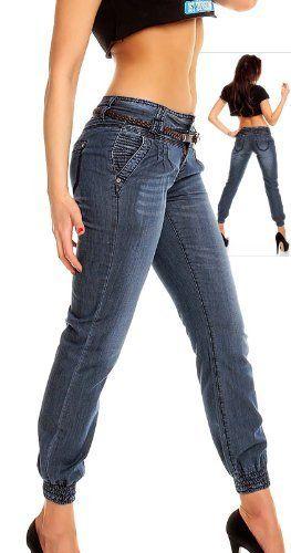 Damen Jeans Pumphose blau von Freshmade, http://www.amazon.de/dp/B00CS31U24/ref=cm_sw_r_pi_dp_7XWTrb0A6FW3Y